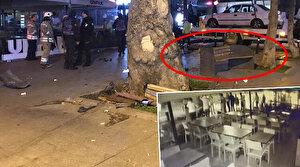 Bağdat Caddesi'nde bankta oturan çift dehşeti yaşadı