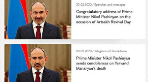 Ermenistan Başbakanı Paşinyan'nın iki ayrı fotoğrafı alay konusu oldu