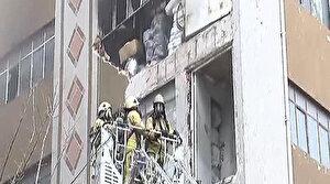 İstanbul Güngören'de iş yerinde patlama sonrası yangın