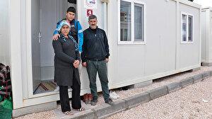 Elazığ'da kurulan konteyner kentte 500 depremzede anahtarını teslim aldı