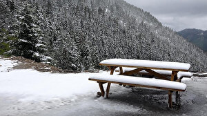Karadeniz'de mayıs karı güzelliği: Doğa beyaza büründü