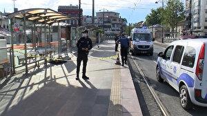 Tramvay durağında ceset bulundu: