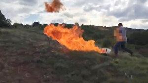 Hükümlü kendini ateşe verdi: Jandarma kurtardı