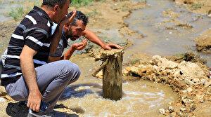 Elazığ'da bahçeye sondaj vurdurdu: 90 metre yerin altından maden duyu fışkırdı