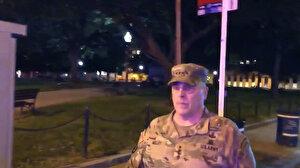 ABD'de öfke dinmiyor: Genelkurmay Başkanı sokağa indi