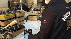 Eyüpsultan'da 1 milyon şişe sahte parfüm ele geçirildi