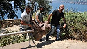 Antalya'da falezlerde bulunan çantadan Roma dönemine ait heykel çıktı