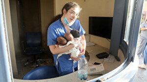 Patlama sonrası 3 yeni doğan bebeği kurtarmıştı: Lübnan o hemşireyi konuşuyor