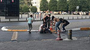 Taksim Meydanı'nda pes dedirten olay: Bayılma numarası yapıp vatandaşı sömürdü