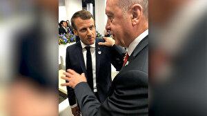 Cumhurbaşkanı Erdoğan Fransız mevkidaşı Macron ile görüştü: Hakkımızı kimseye yedirmeyiz