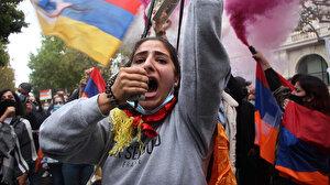 PKK yandaşları ile sokağa inip Türkiye ve Azerbaycan karşıtı gösteri yaptılar