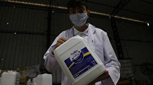 Mesleki ve Teknik Anadolu Lisesi üretiyor: Yüz yüze eğitimde üretilen dezenfektanlar kullanılıyor