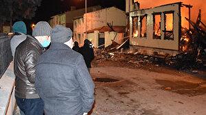 Edirne'de iç acıtan görüntü: Tarihi müftülük binası yandı
