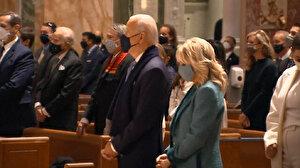 Biden yemin töreninden önce ayine katıldı