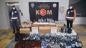 Ev değil imalathane: 790 şişe sahte içkiyi evde saklıyorlar