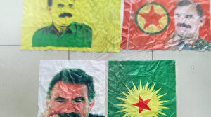 Eski HDP'li belediyenin deposundan terörist elebaşı Öcalan'ın fotoğrafları çıktı