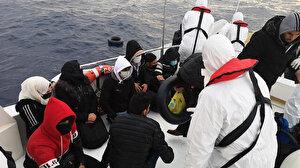 Muğla açıklarında Türk kara sularına geri itilen 28 sığınmacı kurtarıldı