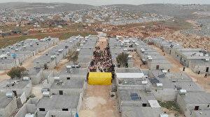 İDDEF İdlib'deki 610 briket evin açılışını yaptı