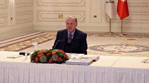 Cumhurbaşkanı Erdoğan: Adalardaki atların hesabını veremeyenlerin diğer konularda neler yaptıklarını düşünmek bile istemiyoruz