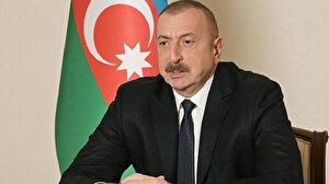 Azerbaycan Cumhurbaşkanı İlham Aliyev Karabağ'ın sembol şehri Şuşa'da yeni caminin temelini attı