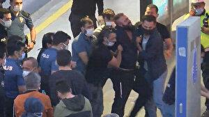 Metrobüsteki yolcuları alıkoyan şahıs kendini araç içine kapattı