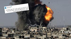 İşgalci İsrail Gazze'yi bombaladığı anın fotoğrafını Fil Suresi'nden ayetlerle alay ederek paylaştı