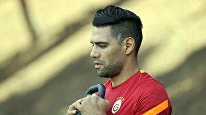 Galatasaray idmanında Radamel Falcao'nun dikkat çeken görüntüsü