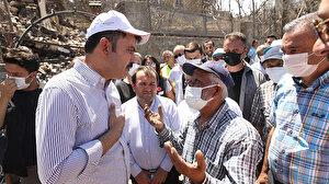 Bakan Kurum: Manavgat'ta bin 777 Marmaris'te 109 bina ağır hasarlı