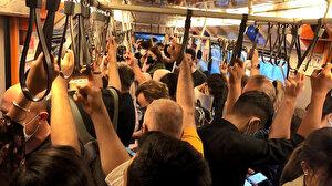 Metro ve metrobüste sosyal mesafesiz yolculuk