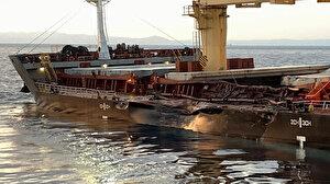 Çanakkale Boğazı'nda çarpışan gemilerin görüntüleri ortaya çıktı
