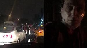 Sarı taksi terörü hız kesmiyor: Tartıştığı sürücünün yolunu kesti otomobilin camını yumrukladı