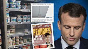 Fransa'da kıtlık manşetleri:Tedarik zinciri çöküyor market rafları boş
