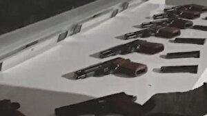 Trabzon'da ay çekirdeği çuvallarından 9 ruhsatsız tabanca çıktı