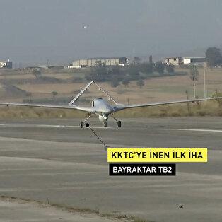 Türkiye'den havalanan İHA, KKTC Geçitkale Havalimanı'na indi
