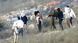Israeli settlers torch Palestinian lands in W...