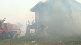 Locals join efforts to battle wildfire in Tur...