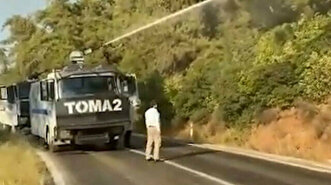 Turkey deploys water cannons to help contain ...