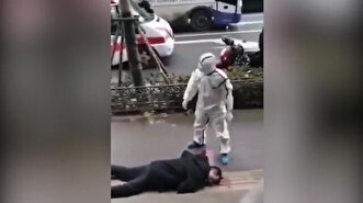 Terrifying footage allegedly shows people col...