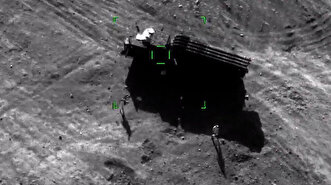 Azeri drones destroy Armenian Smerch missiles...