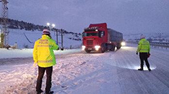 Bolu-Zonguldak tır geçişine kapatıldı