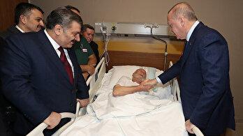 Erdoğan, yaralıları ziyaret etti