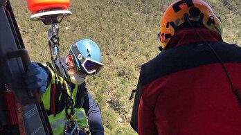 Dağda mahsur kalan adama karantinayı ihlal cezası