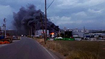 Gebzede korkutan fabrika yangını: Kısa sürede söndürüldü