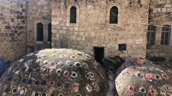 Filistinli Samir eski Türk hamamını yeniliyor