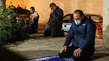 Muslim worshippers perform first Tarawih prayer of Ramadan at Jerusalem's Aqsa Mosque