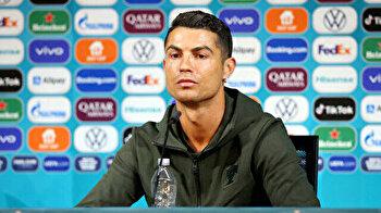 'Drink water': Cristiano Ronaldo chucks away Coca Cola bottles during interview