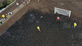 Belarus organizes swamp football tournament