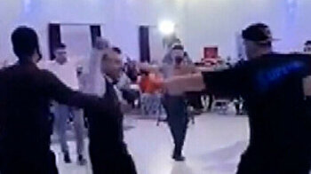 Security guards join wedding celebrations as they perform amazing traditional dance in Turkey