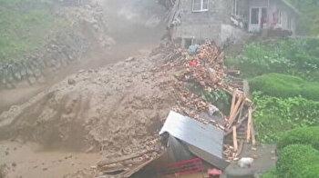 Residents narrowly escape flooding, landslide in Turkey's Black Sea region