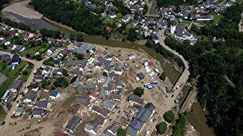 Drone footage shows scope of destruction in flood-stricken Germany